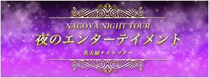 夜のエンターテイメント 名古屋ナイトツアー 特集ページ