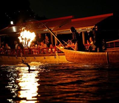 木曽川うかい【夜の鵜飼観覧船プラン】メインイメージ