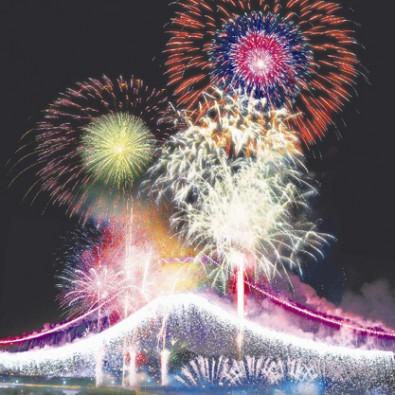 超一流の花火師の競演 ふくろい遠州の花火メインイメージ