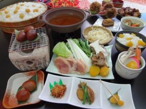 栗ごはん食べ放題と栗づくし鍋 (2)