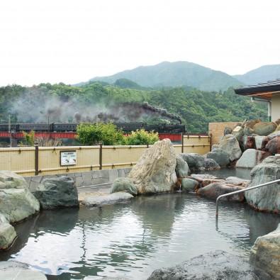 日本唯一!!SLの見える露天風呂・川根温泉と世界一長い木造歩道橋メインイメージ