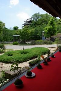⑲ちょいのり西尾 旧近衛邸(縁側と庭園)