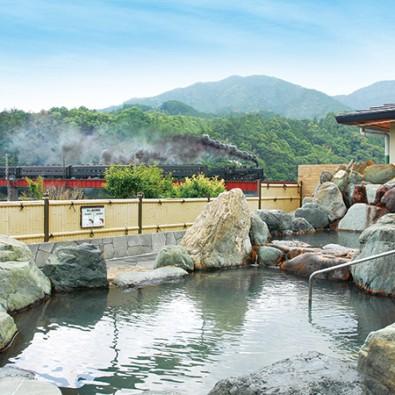 温泉ツアー名古屋一宮号第7回 川根温泉『ふれあいの泉』 ~SLが見える露天風呂と緑多き山々を眺めながら~メインイメージ