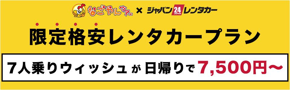 なごやんツアー限定格安レンタカープラン 特集ページ