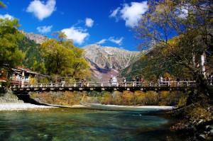 晩秋の上高地(河童橋)