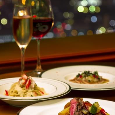 マリオットアソシアホテルの夜景が見えるレストランで楽しむピアノ演奏とイタリアン料理【夜のまち歩き】メインイメージ